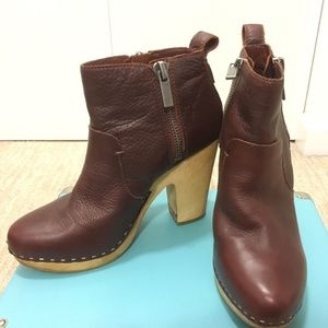 Dolce Vita Stacked Wood Heel Clog Style Bootie